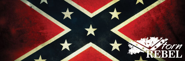 Rebel Confederate Flag Grunge Bumper Sticker