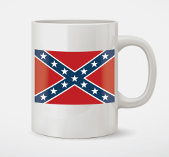 confederate flag cofffee mug