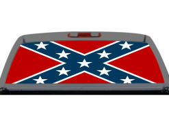 Confederate Flag Plain Southern Rebel Rear Window Decal Truck SUV Perf Perforation