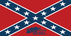 plain confederate flag bumper sticker decal