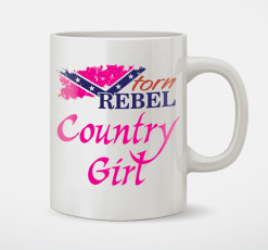 country girl coffee mug rebel confederate flag