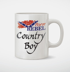 country boy confederate flag coffee mug