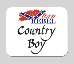 country boy confederate mousepad