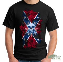 confederate flag shirt skull